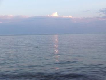 light on the ocean