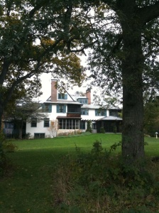 the back of Ragdale, the artists' residency where I've just arrived. Last time, I wrote a third of a novel here.