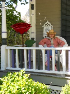 Sue outside her Victorian house