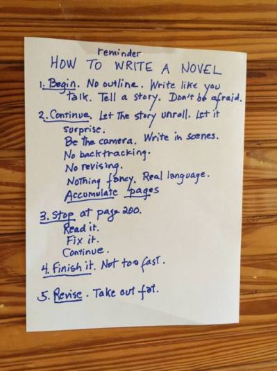 blog Reminder how to write a novel