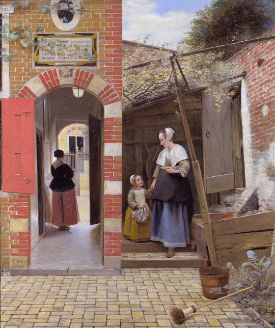 Pieter de Hooch The Courtyard of a House in Delft